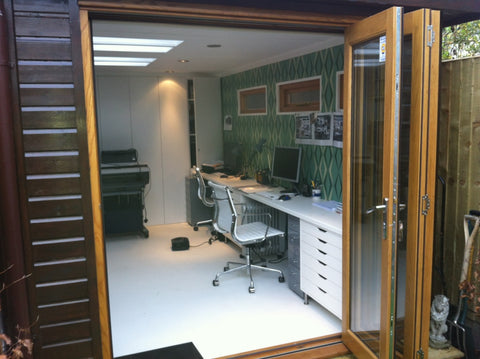 Ms S– London SW6 – 2.6m x 4.8m Contemporary Garden Office – 2.5m Maximum Height, Completed Photo 3