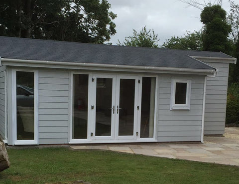 Complete 8m x 5m Cedral Clad Garden Room Including Toilet & Kitchen / Utility Room, Salisbury, Wiltshire