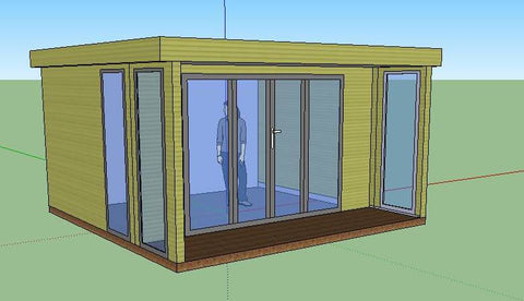 Mr & Mrs S, Christchurch, Dorset, 3.0m x 4.0m Contemporary Garden Room, Mock Up