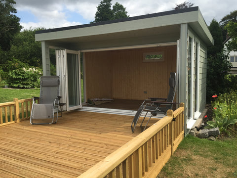 Mr & Mrs S, Christchurch, Dorset, 3.0m x 4.0m Contemporary Garden Room, Completed Photo 5