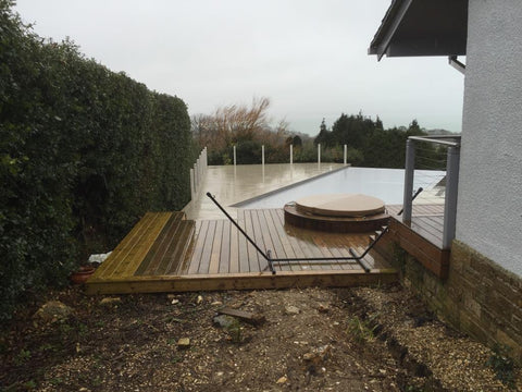 Base 3 - Mr & Mrs W - Studland, Dorset, 6.0m x 4.0m  Contemporary Garden Gym with 3.0m Anthracite Grey uPVC Patio Doors