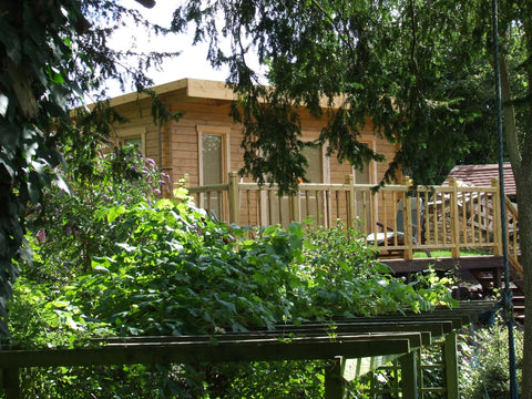 Mr & Mrs E– Dorchester, Dorset – 5.2m x 3.4m – 44mm log Open Plan Barbados Log Cabin – 2.5m Maximum Height, Completed Photo 3