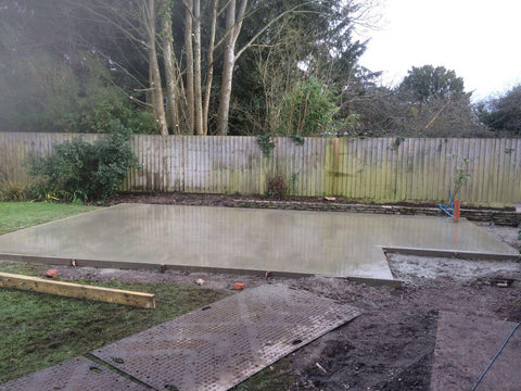 Garden Retreat Concrete Base Construction, Downton, Salisbury, Wiltshire Photo 5