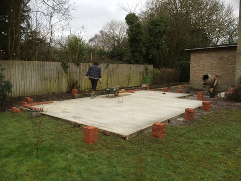 Garden Retreat Concrete Base Construction, Brick Course Downton, Salisbury, Wiltshire, Photo 1