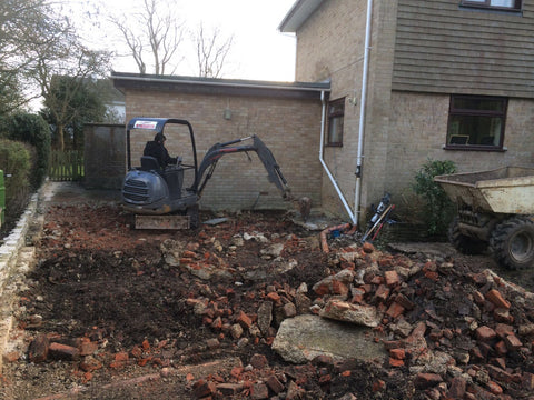 Garden Retreat Concrete Base Construction, Downton, Salisbury, Wiltshire Photo 1