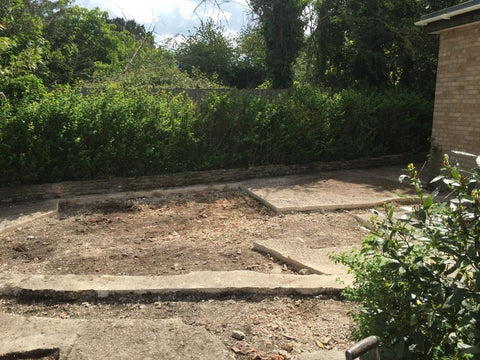 Old Concrete Base Photo 1 for 8m x 5m Cedral Clad Garden Leisure Room With W.C. and Kitchen / Utility Room in Downton, Salisbury.