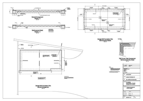 Planning Drawing 2 - Mr S - West Monkton, Somerset, 20ft x 40ft Quadruple Timber Garage with Three Bay Garage and Built-in Garden Office