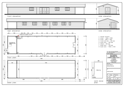 Bellway Homes – Evesham, Hampton, Worcester  – 26m x 6.1m – Farm Shop, Planning Drawings