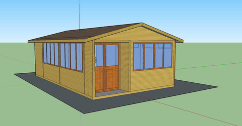 Mock-Up 2 - Mrs D - Whitchurch Canonicorum, Nr Bridport, Dorset, 7.5m x 4.5m Cedar Clad Garden Studio with Cedar Shingles