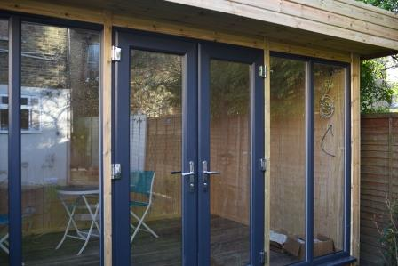 Ms R - Crystal Palace, London, 4.0m x 2.8m Contemporary Garden Office with Grey Anthracite uPVC Doors and Windows, Completed Photo 2