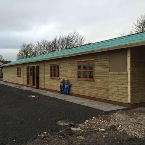 Bellway Homes – Evesham, Hampton, Worcester  – 26m x 6.1m – Farm Shop, Construction Photo 4