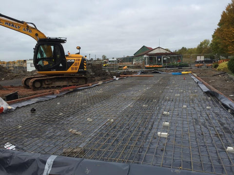 Bellway Homes – Evesham, Hampton, Worcester  – 26m x 6.1m – Farm Shop, Concrete Base Construction Photo 3