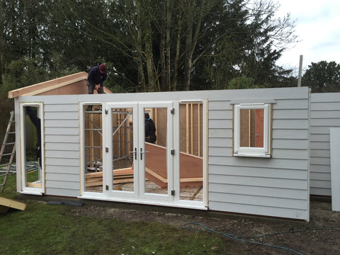 The Build 8m x 5m Cedral Clad Garden Room Including Toilet & Kitchen / Utility Room, Salisbury, Wiltshire