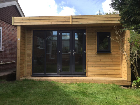 Contemporary Garden Office Complete - Downton Salisbury