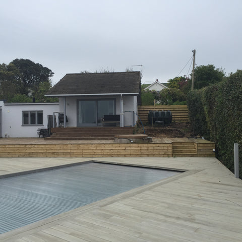 Base 4 - Mr & Mrs W - Studland, Dorset, 6.0m x 4.0m  Contemporary Garden Gym with 3.0m Anthracite Grey uPVC Patio Doors