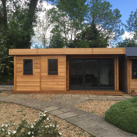 Photo 1 - The 'London' Garden Office or Garden Room, 6.2m wide x 3.6 deep, 2.5m to Ridge with Aluminium Bi-Fold Doors