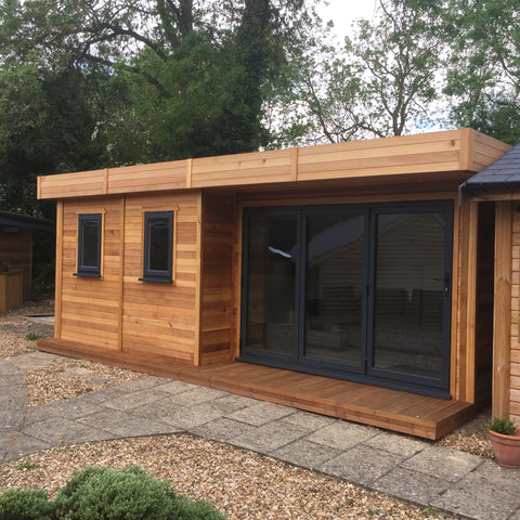 Photo 2 - The 'London' Garden Office or Garden Room, 6.2m wide x 3.6 deep, 2.5m to Ridge with Aluminium Bi-Fold Doors