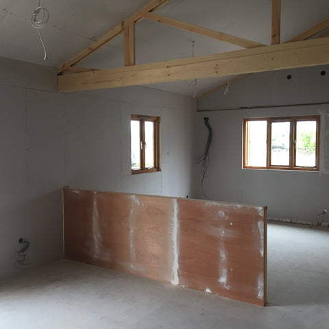 Cropredy Marina, Banbury, Oxford - New Sales Office Plaster Boarding 2