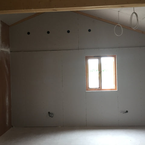 Cropredy Marina, Banbury, Oxford - New Sales Office Plaster Boarding 3
