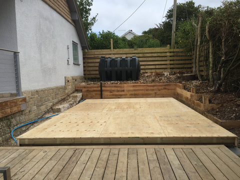 Base 9 - Mr & Mrs W - Studland, Dorset, 6.0m x 4.0m  Contemporary Garden Gym with 3.0m Anthracite Grey uPVC Patio Doors