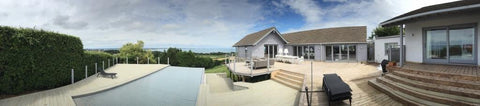 Panoramic 2 - Mr & Mrs W - Studland, Dorset, 6.0m x 4.0m  Contemporary Garden Gym with 3.0m Anthracite Grey uPVC Patio Doors
