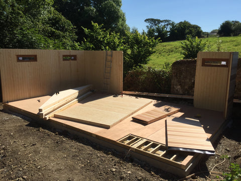 The Build 1 - Mrs D - Whitchurch Canonicorum, Nr Bridport, Dorset, 7.5m x 4.5m Cedar Clad Garden Studio with Cedar Shingles