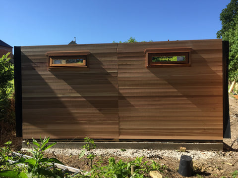 The Build 2 - Mrs D - Whitchurch Canonicorum, Nr Bridport, Dorset, 7.5m x 4.5m Cedar Clad Garden Studio with Cedar Shingles