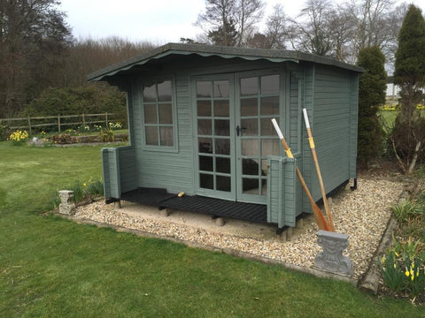 Mr & Mrs S, Christchurch, Dorset, 3.0m x 4.0m Contemporary Garden Room, Before Photo 1