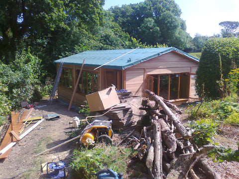 The Build 5 - Mrs D - Whitchurch Canonicorum, Nr Bridport, Dorset, 7.5m x 4.5m Cedar Clad Garden Studio with Cedar Shingles