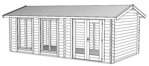 The Shetland Twin Wall Log Cabin Installation Instructions
