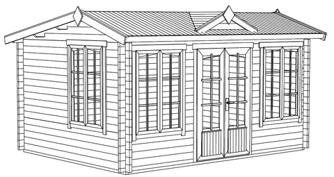 The Windsor Log Cabin Installation Instructions