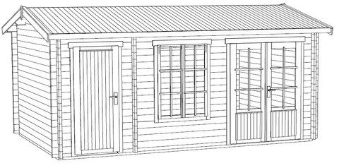 The Wrexham 2 Log Cabin Installation Instructions