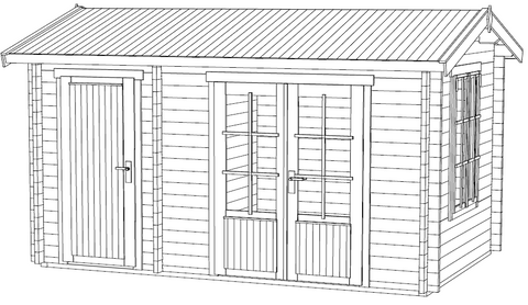 The Wrexham 1 Log Cabin Installation Instructions