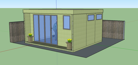 Contemporary Garden Office Mock Up - Downton Salisbury