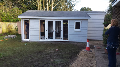 The Build Photo 2 8m x 5m Cedral Clad Garden Room Including Toilet & Kitchen / Utility Room, Salisbury, Wiltshire