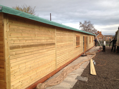 Bellway Homes – Evesham, Hampton, Worcester  – 26m x 6.1m – Farm Shop, Construction Photo 3