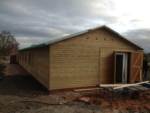 Bellway Homes – Evesham, Hampton, Worcester  – 26m x 6.1m – Farm Shop, Construction Photo 2