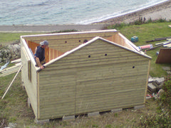 Beach Hut Construction, Portland, Dorset