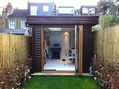 2.4m x 5.0m Contemporary Garden Office, with a Mono Roof and Bi-Fold Doors