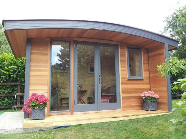 Winchester bespoke garden offices and garden rooms for Cedar garden office