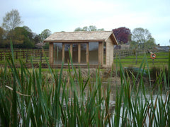 Cedar Clad and Cedar Tiled Contemporary Garden Office