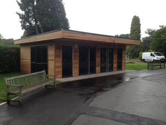 Cedar Clad Waiting Room at Solihull Crematorium
