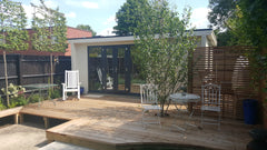 5.5m x 3.0m Contemporary Garden Office Including Store Room and Grey Anthracite uPVC Windows and Doors