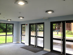 Cedar Clad Waiting Room at Solihull Crematorium, Internal View