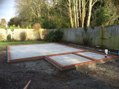 8.0m x 5.0m Concrete Base with Brick Course, Downton, Salisbury, Wiltshire