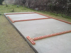 30ft x 18ft Timber Garage Concrete Base Construction, Dorset