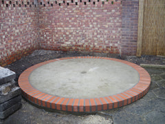Circular Concrete Base for a Thatched Gazebo