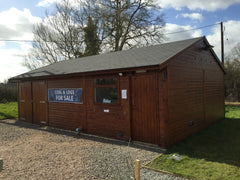 Customer Toilet and Storage Business Unit at Cropredy Marina, Banbury, Oxfordshire. Featuring Double Barn Doors and a Slate Grey Tiled Roof