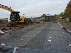 Bellway Homes – Evesham, Hampton, Worcester – 26m x 6.1m – Farm Shop Concrete Base Construction