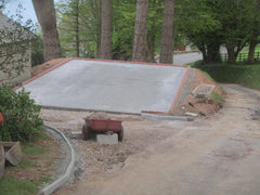 10.0m x 6.1m Concrete Base for Triple Garage in Devon